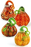 Handmade Glass Mini Gourds Assortment - 3'' Wide - Set of 4 - FREE Shipping to the lower 48 on orders over $35!