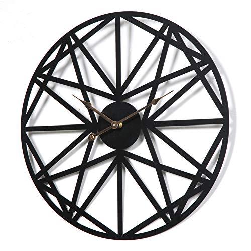 MUZIDP Wrought Iron Wall Clock,European Creative Hollow Metal Round Classic Clock,Living Room Office Wall Clock-A 50cm(20inch) ()