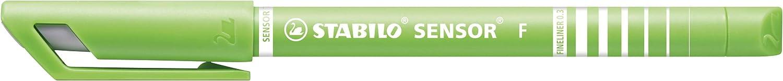 Rotulador puntafina STABILO SENSOR Color negro Caja con 10 unidades Punta fina 0.3 con sistema de amortiguaci/ón