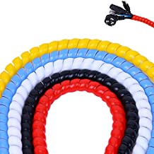 WINGOFFLY 5pcs x 6.5Ft 8mm Cable Management PP Hose Protector Sleeve Spiral Wire Wrap Tube Cable Organizer