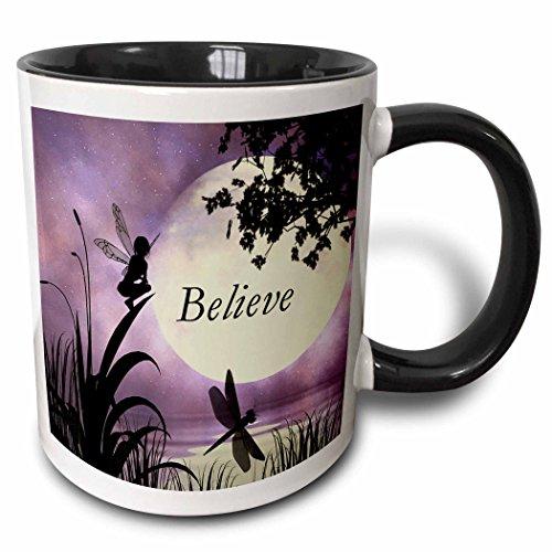 3dRose mug_35696_4 Believe Dragonflies Multicolor