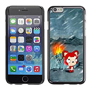 Impact Case Cover with Art Pattern Designs FOR iPhone 6 Cute Winter Cat Betty shop