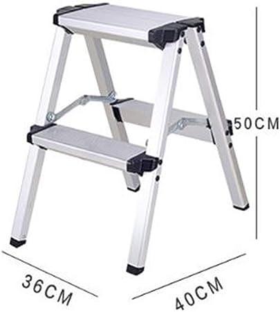 Antideslizante Escalera Plegable de aleación de Aluminio Hogar Espesar móvil Interior y Exterior multifunción Resistente al Desgaste (Size : H-50CM): Amazon.es: Hogar