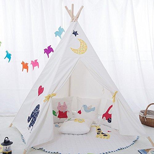 Erstklassiges Indianerzelt Tipi aus Spitze für Kinder. Kinder Spielzelt / Spielhaus / Wigwam von Integrity co (Weiß)