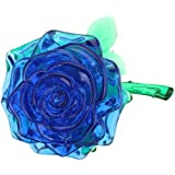 DIY 3D Crystal Puzzle Rose Red/Yellow/Pink/Blue Christmas Decoration Gift