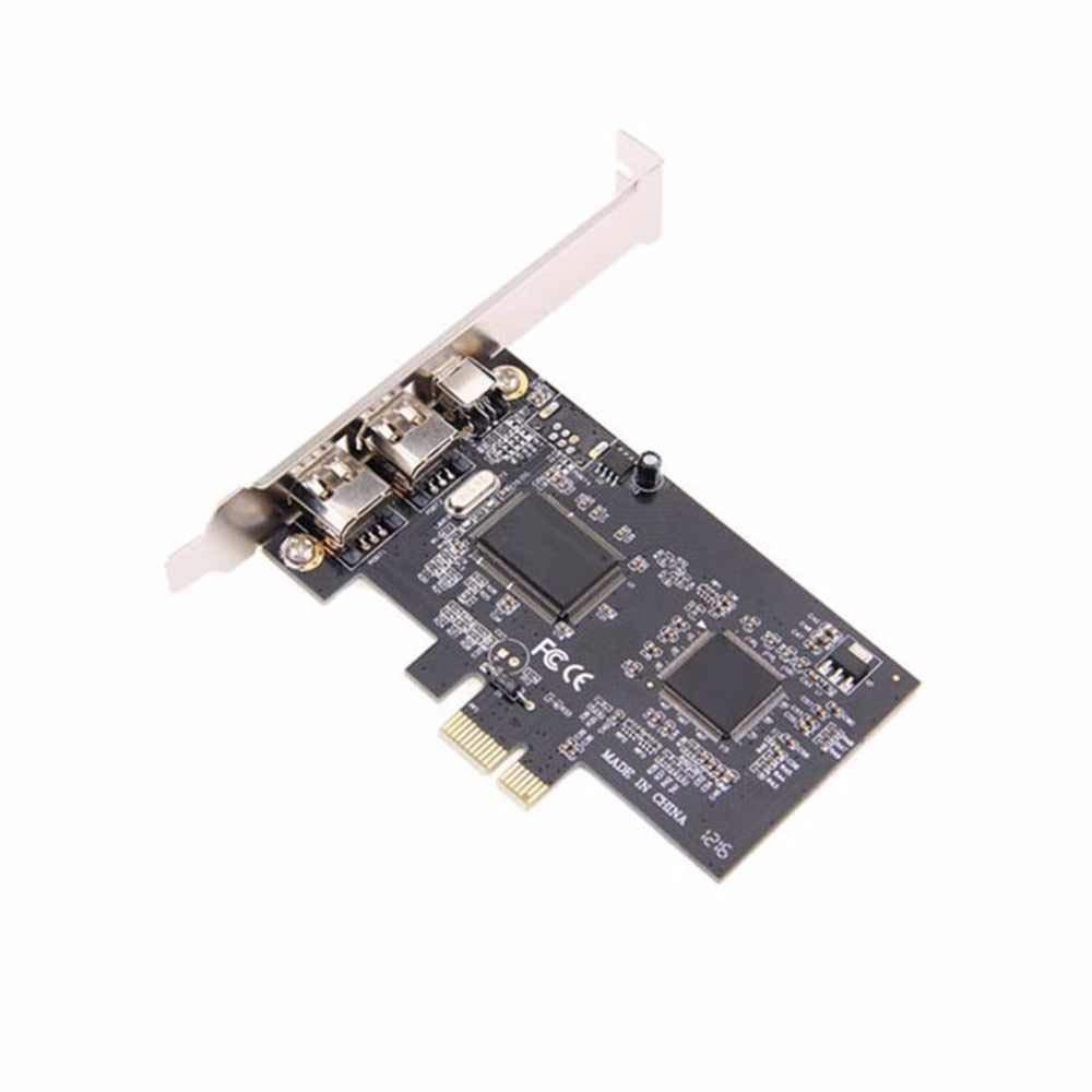 JX2 3 Porte PCI Express PCI-E FireWire 1394a IEEE1394 Scheda Controller Esterno per Windows XP//Vista//7 32//64 Bit con Cavo Firewire