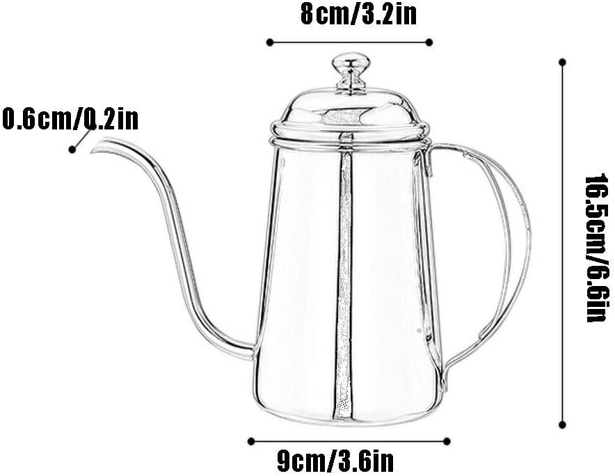 AYHa 720 ml arc en ciel en acier inoxydable main punch pot