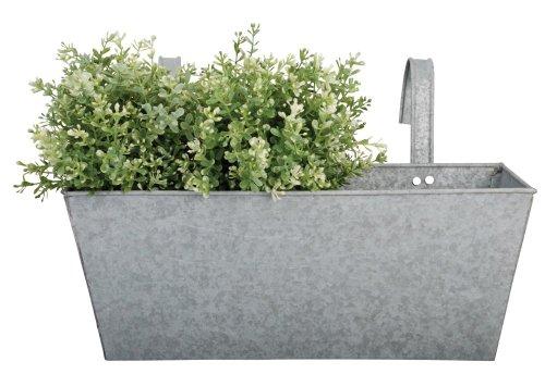 Cheap  Esschert Design Old Zinc Rectangular Balcony Flower Planter
