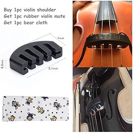2x Gummifüße 3//4 4//4 Violine Schulterstütze Musikinstrumente Zubehör