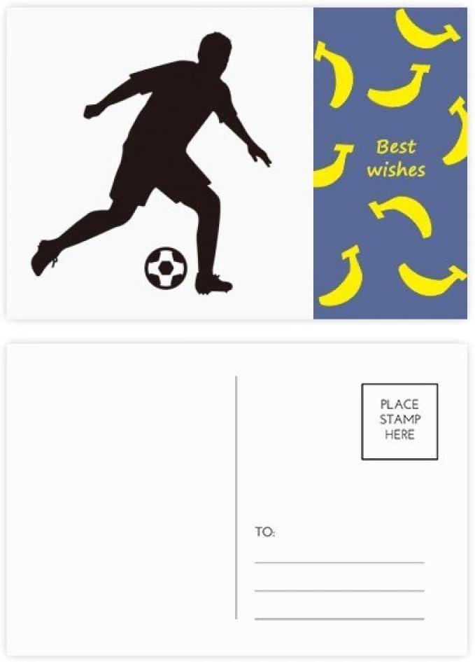 Juego de 20 postales de futbolín de fútbol con silueta de plátano ...