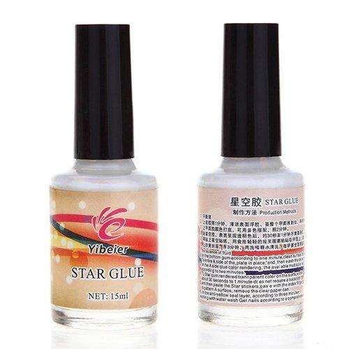 Bote de 15 ml de pegamento brillante para pegatinas de decoración de uñas Suberde