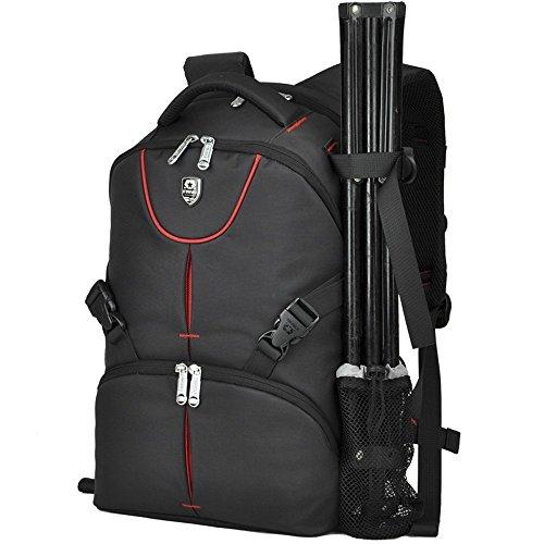 BAIGIO Camera Bag Backpacks for SLR/DSLR Digital Nikon/ Canon Oxford Camera Case Photography Backpack (Black) by BAIGIO
