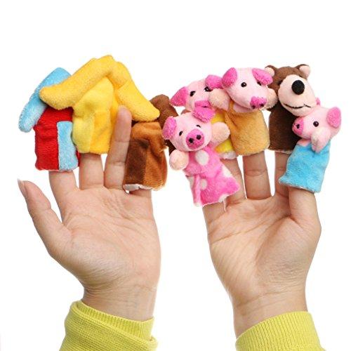 [해외]yuanhaourty 8pcs Mini Cartoon Finger Puppet Toy for Baby Three Little Pigs Finger Puppets Kids Educational Hand Toys Story Toys / yuanhaourty 8pcs Mini Cartoon Finger Puppet Toy for Baby Three Little Pigs Finger Puppets Kids Educat...