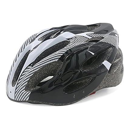 eDealMax hueco hacia fuera diseña Para Bicicleta Casco de 56cm-63cm Negro Blanco