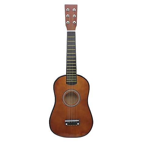 Rolanli Guitarra para Niños, 58,7cm 6 Cuerdas Guitarra de Madera Juguete de Instrumentos