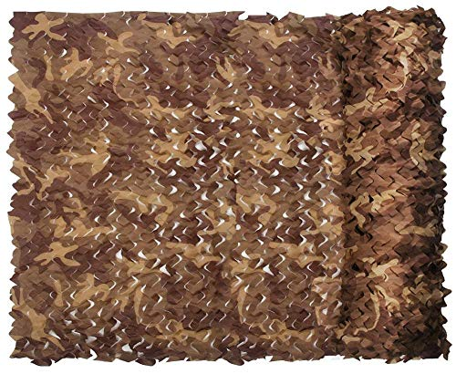Camouflage Net Desert Woodland Jungle Summer 210D Camo Netting Durable Waterproof For CS Camping Military Hunting Sport Shooting Sun Shade Blind Watching Hide Party Decorations Desert camo 20ft20ft