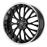 Lorenzo WL027 Series Gloss Black With Chrome Lip Wheel (19x9.5