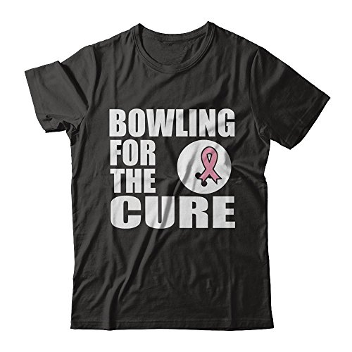 Mens Hockey Arch T-shirt - Teely Shop Women's Bowling The Cure Breast Cancer Bowling Team Next Level - Unisex Fitted Tee/Black/2XL