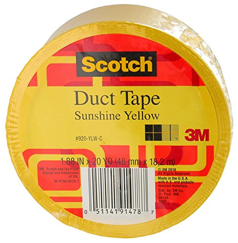 3M Scotch Duct Tape, Sunshine Yellow, 1.88-Inch by 20-Yard - 920-YLW-C ()