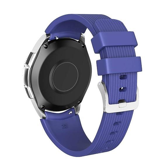 NotoCity 22mm Watch Band Compatible Samsung Galaxy Watch 46mm Soft Silicon Watch Bands Samsung Gear S3/ASUS Zen Watch/Pebble Time Smartwatch (Dark ...