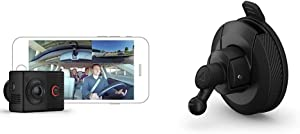 Garmin Dash Cam Tandem, Front and Rear Dual-Lens Dash Camera with Interior Night Vision, Two 180-degree Lenses & Mini Suction Cup Mount for Speak, Plus, Dash Cam 45, 55 and 65W, 010-12530-05