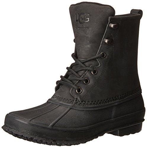 UGG Men's Yucca Winter Boot, Black, 10 M US (Black Mens Ugg Boots)