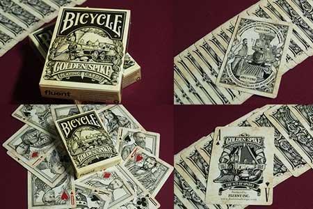 Bicycle Golden Spike Deck by Jody Eklund - Trick