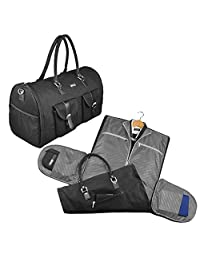 2 in 1 Convertible Travel Garment Bag Carry On Suit Bag Luggage Duffel