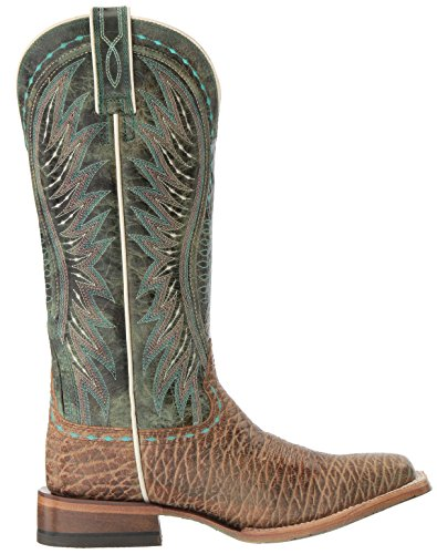 Ariat Womens Vaquera Western Cowboy Boot, Misty Turquoise Elephant Print, 10 B US Misty Turquoise Elephant Print