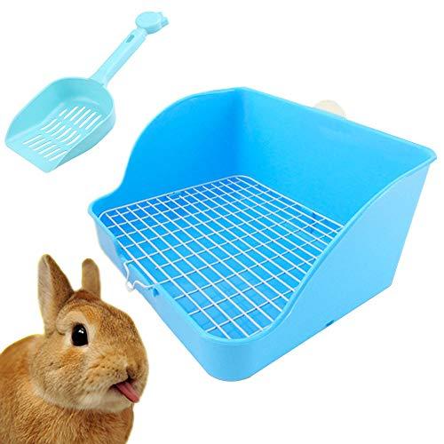 Hamiledyi Pet Small Rat Toilet, Square Potty Trainer Corner Litter Bedding Box Pet Pan for Small Animal/Rabbit/Guinea Pig/galesaur/Ferret