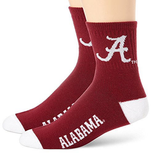 NCAA ALABAMA QUARTER SOCKS - TEAM COLOR (Alabama Quarter Roll)
