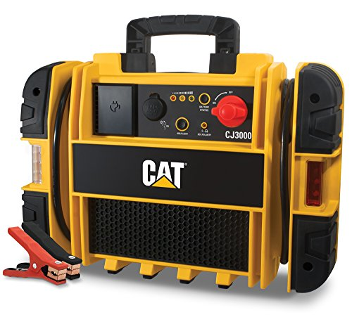 CAT CJ3000 Professional Jump Starter: 2000 Peak/1000 Instant Amps, Built-In Power Switch, Battery Clamps