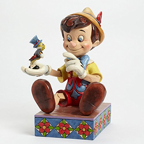 Jim Shore Disney Give A Little Whistle - Pinocchio 75th Anniversary Figurine ()