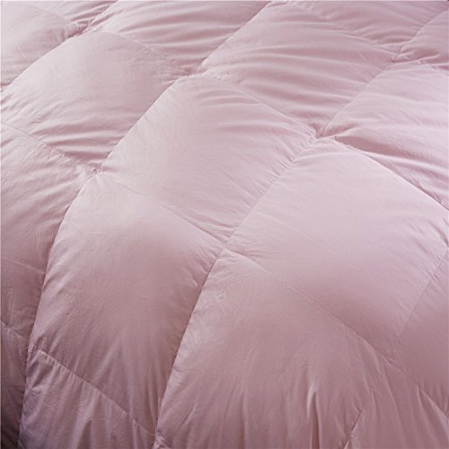 Topsleepy LUXURIOUS All Size 75% Goose Down Comforter ,1200TC 100% Cotton Shell Down Proof 750 Fill Power, 50 Oz Fill Weight ,LIGHT PINK Color,Hypo-allergenic (California King Size) by Topsleepy (Image #2)'