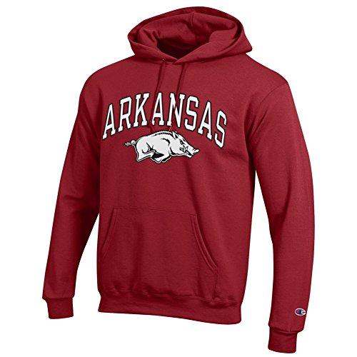 Elite Fan Shop Arkansas Razorbacks Hooded Sweatshirt Varsity Cardinal - XL