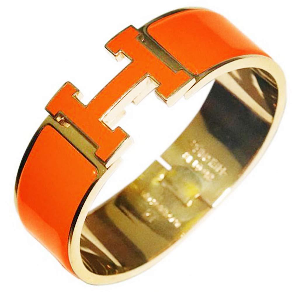 JASMINE JEFFER Stainless Steel Wide 20MM//18MM Unisex Fashion Buckle Bangle Enamel Bracelet