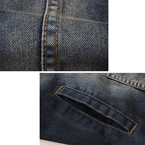 Azul High Tall suave Zhuhaitf Denim Big Mens Denim Jacket and Mens Outwear Soft Quality EYwSOxq