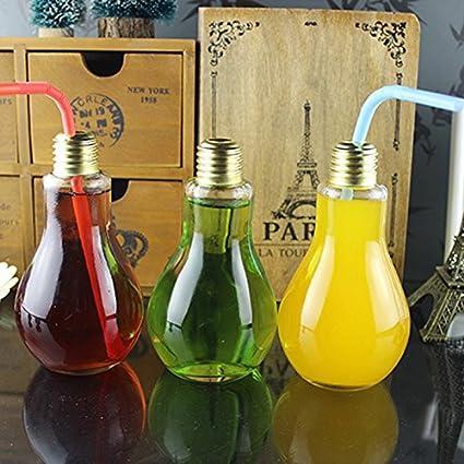 Nueva botella de vidrio de té Bombilla de luz - 250 ml de bebida multiusos ds