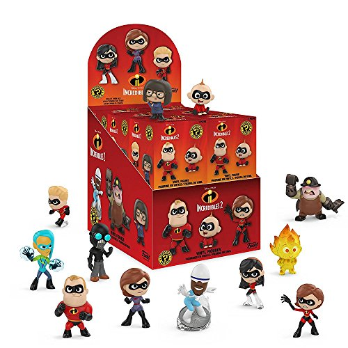 Funko Mystery Minis: Disney Pixar The Incredibles 2 Movie Characters Mini Toy Action Figure - 2 PACK BUNDLE