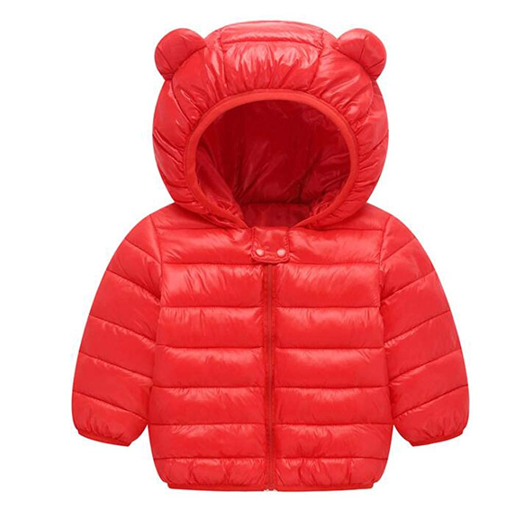 TAIYCYXGAN Baby Girls Boys Winter Puffer Hooded Jacket Zip Up Down Coat Snowsuit Warm Windproof Lightweight Outwear