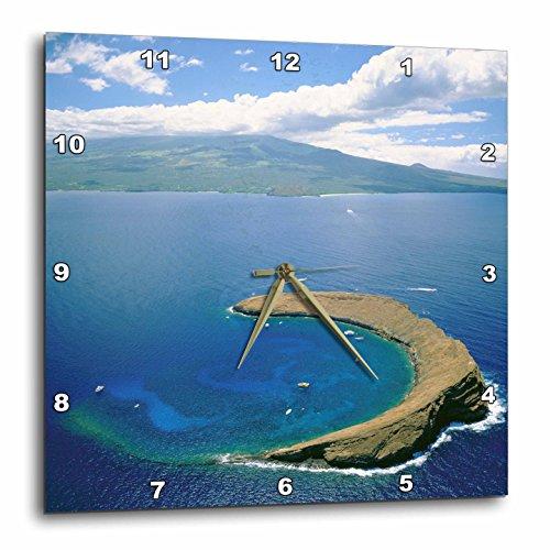 3dRose dpp_89636_1 Molokini Island Maui Hawaii-Us12 Dpb0749-Douglas Peebles-Wall Clock, 10 by 10'' by 3dRose