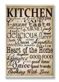 Stupell Home Words in the Kitchen Off White Wall Plaque