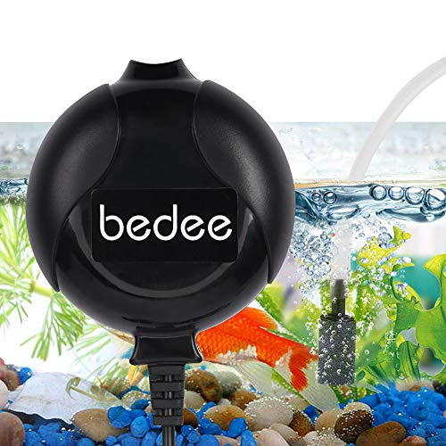 bedee Mini Fish Air Pump for Aquarium Ultra Silent High Energy Saving Quiet Oxygen Air Pump Aquarium for Fish Tank with Air Stone and Silicone Tube (Small Fish Tank Air Pump)