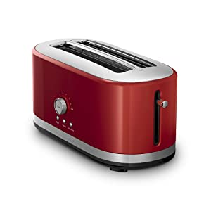 KitchenAid KMT4116ER 4 Slice Long Slot Toaster with High Lift Lever, Empire Red