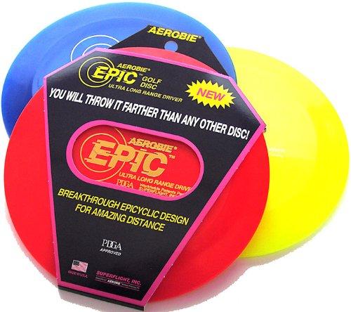 Aerobie Wurfscheibe Epic Golf Disc,166-169 Gramm für extrem lange Wurfweite,sortierte Farbe