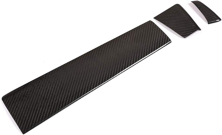 Lot de 3 garnitures pour console centrale 100 /% fibre de carbone v/éritable pour Macan 2014-2020