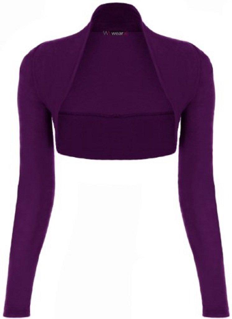 ZJ Clothes Ladies Long Sleeve Shrug Womens Bolero Cardigan Top