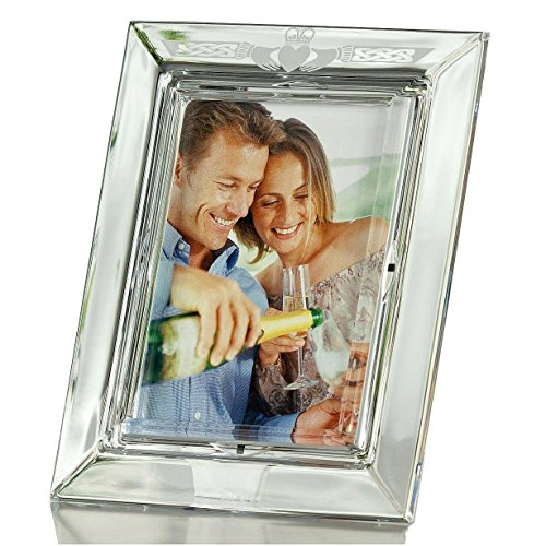 The CLADDAUGH Fine Crystal LOVE Frame by Galway for Belle...