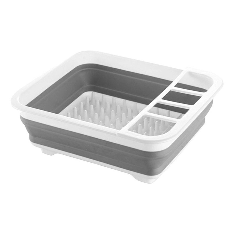 1PC Storage Drain Rack Plastic Dish Bowl Storage Holder Foldable Kitchen Sink Rack Dish Cutlery Drainer Drying Holder