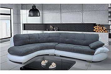 chloe design canap dangle regal gris blanc angle gauche - Canape Gris Blanc